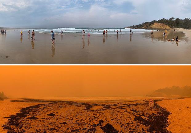 Chùm ảnh đau lòng: Nước Úc trước và sau khi ngọn lửa hung tàn quét qua - Ảnh 2.