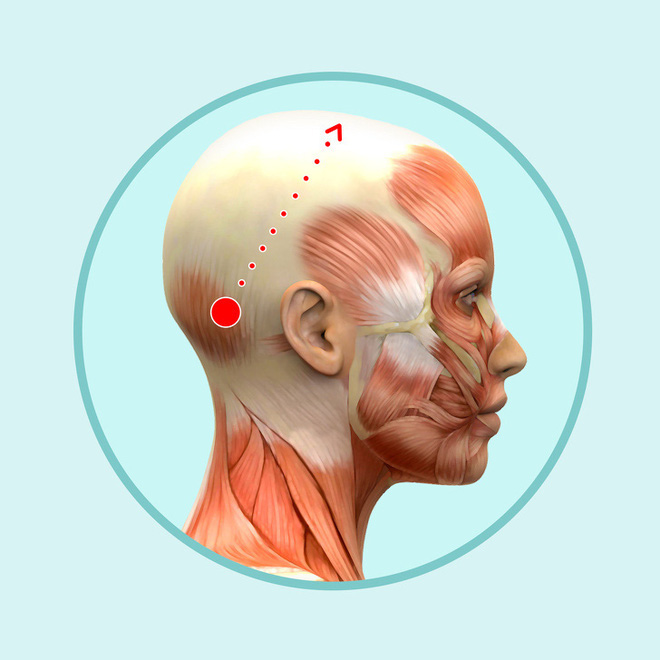 Bài mát xa đầu giúp trẻ hóa toàn bộ khuôn mặt, lưu thông khí huyết và ngăn ngừa bệnh tật - Ảnh 3.