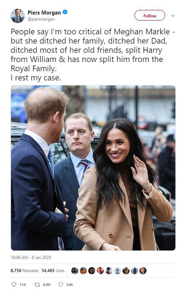 MC nổi tiếng nhất nước Anh nặng nề chỉ trích Meghan hết ghẻ lạnh gia đình, bạn bè mình rồi lại chia rẽ Harry với William và hoàng gia - Ảnh 4.