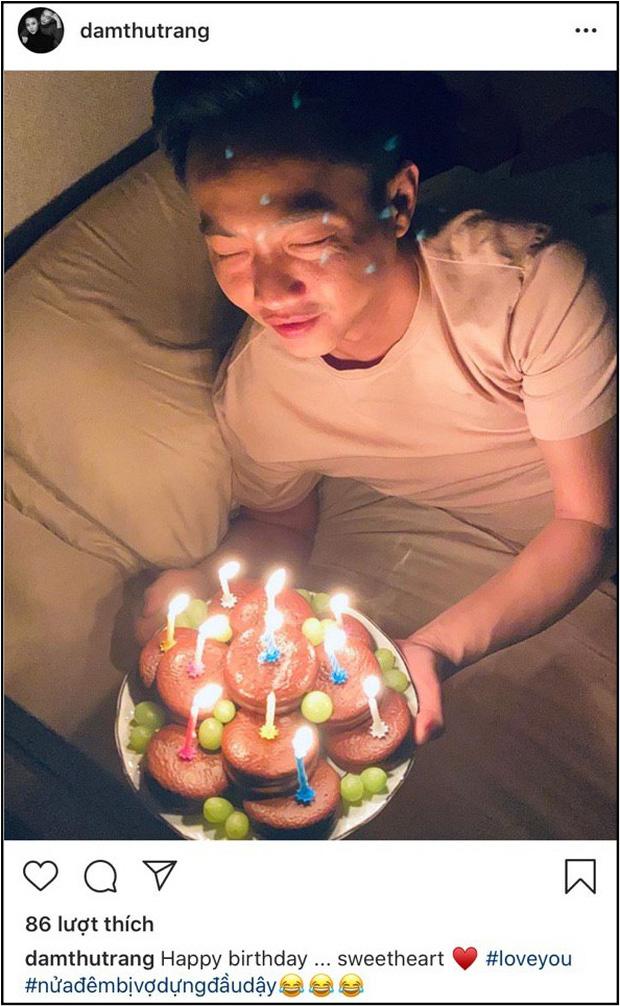 Lãng mạn như Đàm Thu Trang: Nửa đêm mang bánh và nến đến tận giường để mừng sinh nhật Cường Đô La - Ảnh 1.