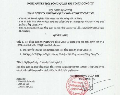 Bà Nguyễn Thị Nga bất ngờ thôi giữ chức Chủ tịch Hapro - Ảnh 1.