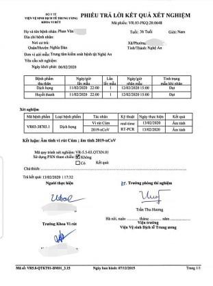 Vụ hành khách nhiễm virus Corona đi xe khách Phú Thọ - Nghệ An: Xét nghiệm lần 1 âm tính - Ảnh 3.