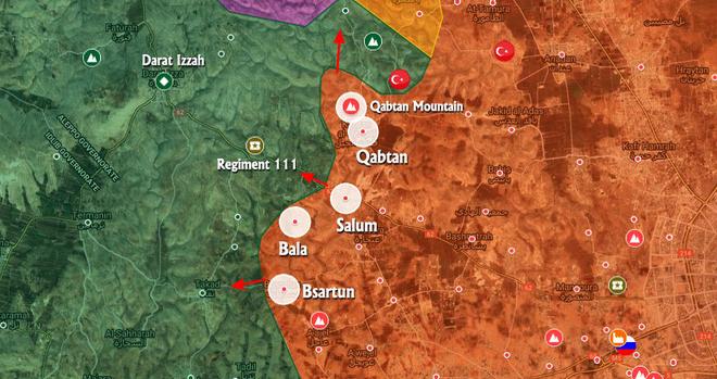 QĐ Syria ồ ạt tấn công, uy hiếp thành trì Daraat Izza, toàn tuyến phòng thủ Idlib sụp đổ? - Ảnh 1.