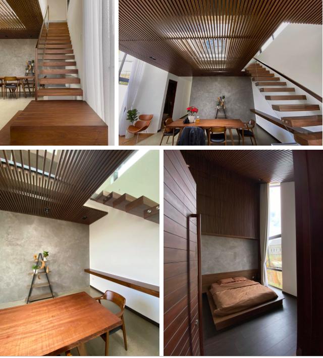 Mọi ngóc ngách trong biệt thự mới của Tóc Tiên tại Đà Lạt: Thiết kế hiện đại sang trọng, 90% đều bằng gỗ - Ảnh 3.