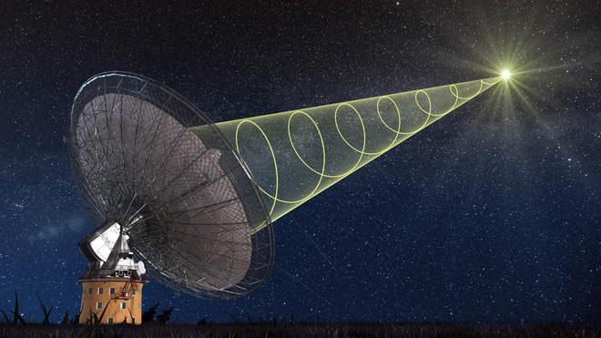Thiên hà cách ta 500 triệu năm ánh sáng phát ra đợt sóng vô tuyến với chu kỳ 16 ngày đều như vắt chanh - Ảnh 2.