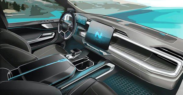 Xe bán tải điện đối thủ của Tesla Cybertruck lộ diện: trâu hơn, thiết kế nội thất như xe tương lai - Ảnh 1.