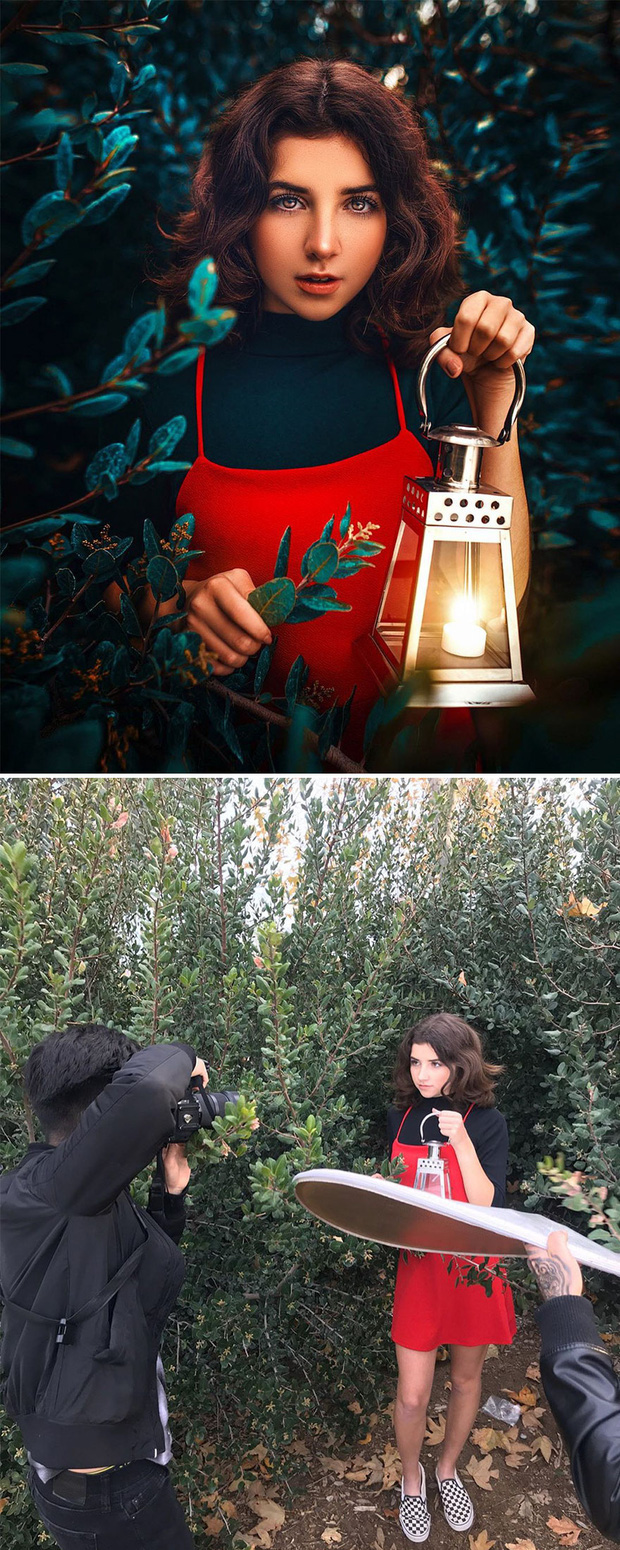 Loạt ảnh Behind The Scenes chứng minh sự thần kỳ của photoshop, từ những đạo cụ bình thường cũng thành tác phẩm nghệ thuật - Ảnh 4.