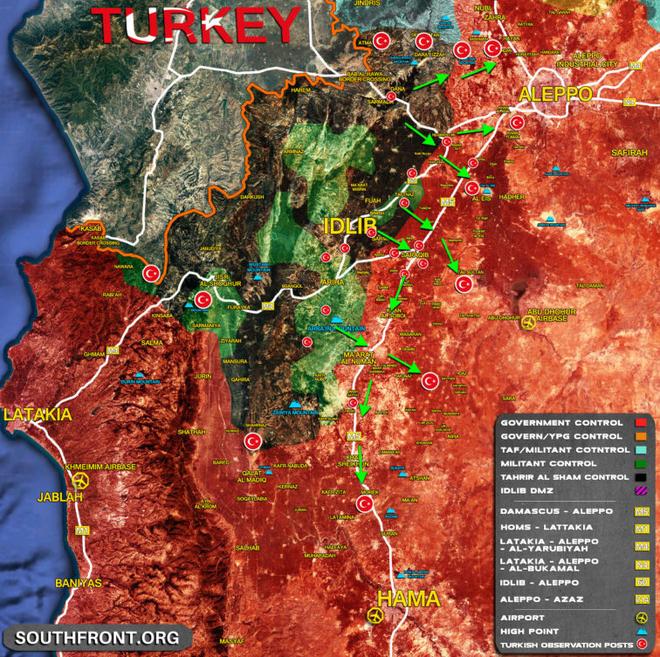 Lộ kịch bản tấn công Syria của Thổ: 4 bàn đạp, 7 mũi đột phá thần tốc vào Aleppo, Hama? - Ảnh 1.