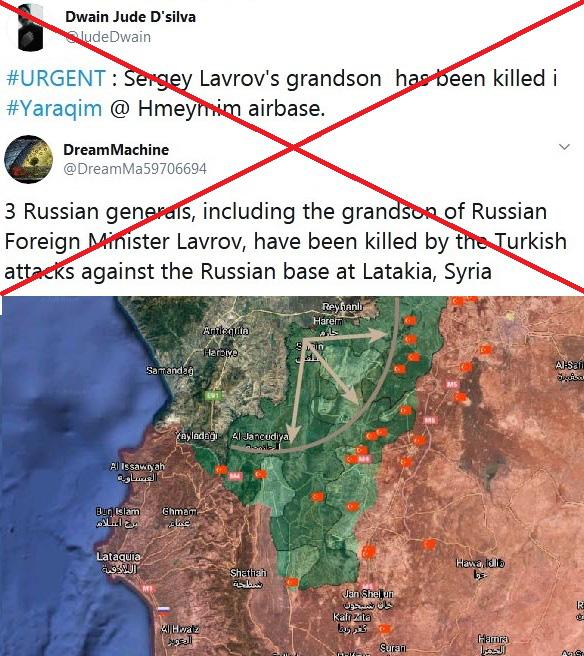 Thực hư tin đồn người lính Nga - cháu trai Ngoại trưởng Lavrov thiệt mạng ở Khmeimim đêm qua? - Ảnh 1.