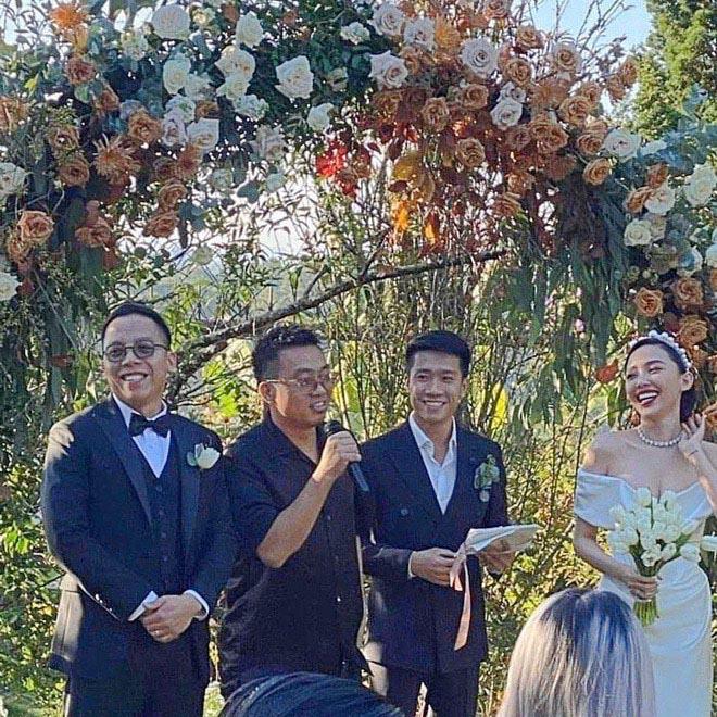 Hai cặp đôi chia tay ồn ào đều xuất hiện trong đám cưới của Tóc Tiên - Ảnh 1.