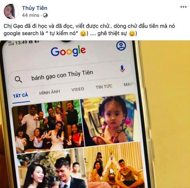 Con gái Bánh Gạo khiến Công Vinh - Thuỷ Tiên cười ngất vì tự tìm chính mình trên Google - Ảnh 1.