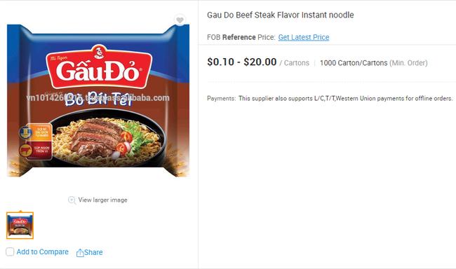 Mì ăn liền Việt âm thầm có mặt tại nhiều trang bán hàng online của nước ngoài với giá bán chắc chắn không hề rẻ - Ảnh 6.