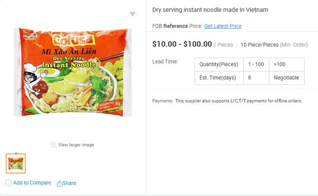 Mì ăn liền Việt âm thầm có mặt tại nhiều trang bán hàng online của nước ngoài với giá bán chắc chắn không hề rẻ - Ảnh 7.