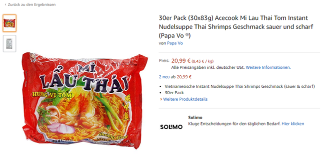 Mì ăn liền Việt âm thầm có mặt tại nhiều trang bán hàng online của nước ngoài với giá bán chắc chắn không hề rẻ - Ảnh 9.