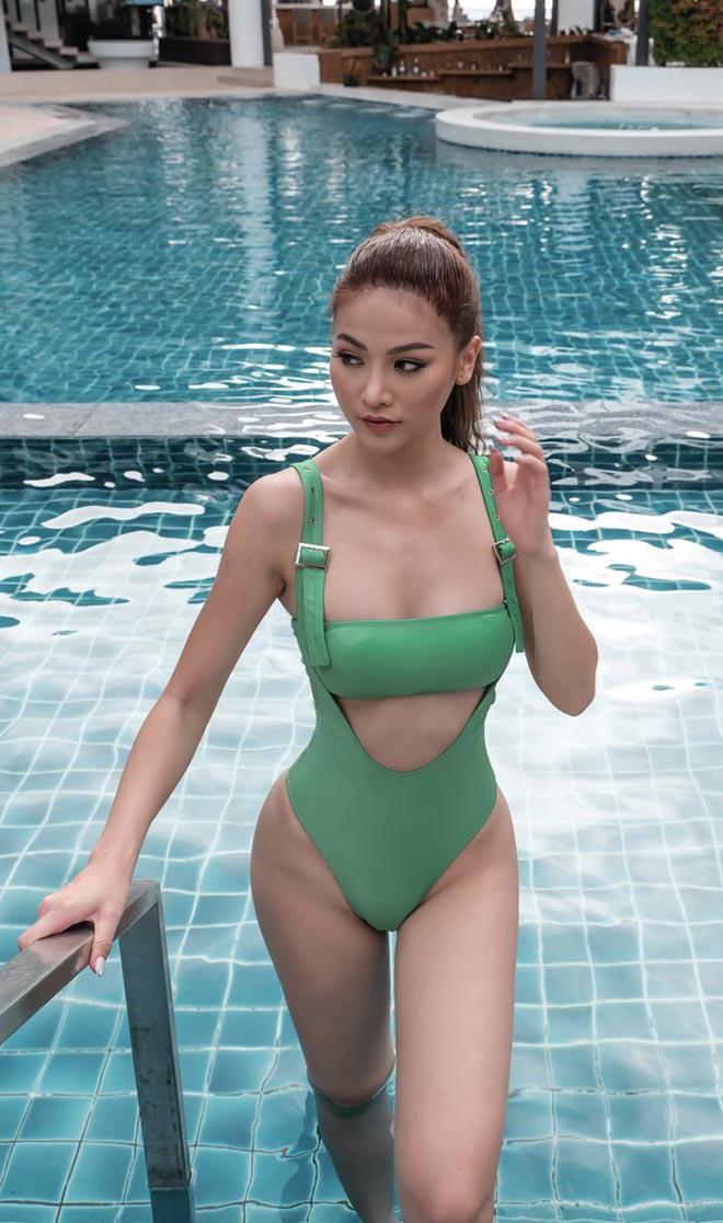 Phương Khánh diện bikini gợi cảm, tự tin khoe cơ bụng săn chắc - Ảnh 5.