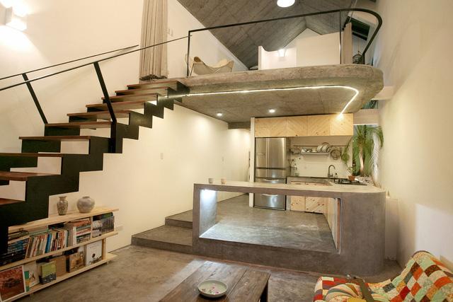 Ngôi nhà 40 m2 tối giản khác biệt trong căn hẻm nhỏ Hà Nội - Ảnh 3.