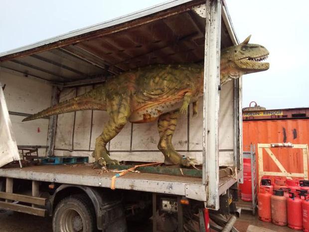 Đặt mua khủng long đồ chơi trên mạng cho con trai mà quên không hỏi kích thước, ông bố tá hỏa khi hàng được chuyển đến tận nhà - Ảnh 2.