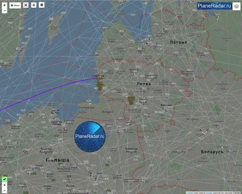 """Máy bay trinh sát RC-135W của Anh """"do thám"""" gần biên giới Kaliningrad - Ảnh 1."""