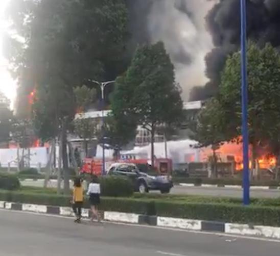 Cháy ngùn ngụt ở khu công nghiệp tại Bình Dương, cột khói cao hàng chục mét - Ảnh 4.