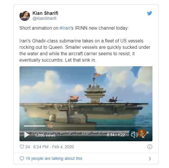 """Viễn cảnh chiến tranh: Tàu ngầm Iran """"làm thịt"""" cả hạm đội Mỹ, chỉ 2 phi cơ kịp chạy thoát - Ảnh 2."""