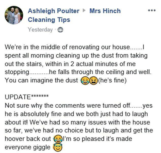 Đang dọn dẹp để sửa sang nhà cửa, người phụ nữ hốt hoảng khi nhìn thấy đầu người trên trần nhà trước khi phát hiện sự thật không ai ngờ - Ảnh 2.