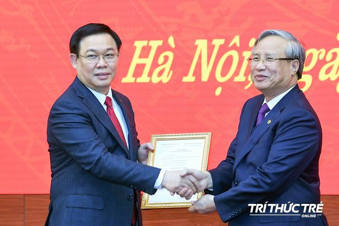 (ẢNH) Toàn cảnh lễ nhận quyết định Bí thư Thành ủy Hà Nội của Phó Thủ tướng Vương Đình Huệ - Ảnh 7.