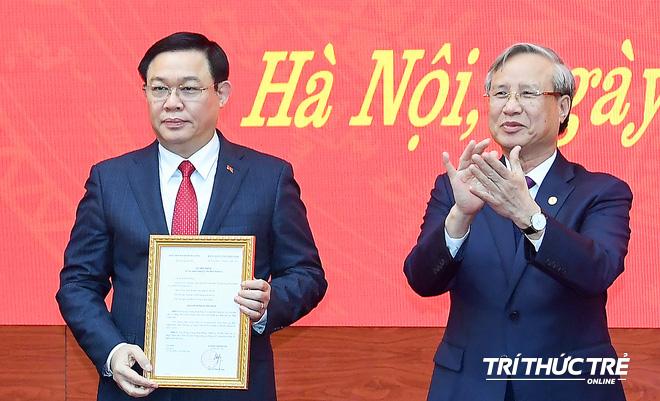 (ẢNH) Toàn cảnh lễ nhận quyết định Bí thư Thành ủy Hà Nội của Phó Thủ tướng Vương Đình Huệ - Ảnh 8.