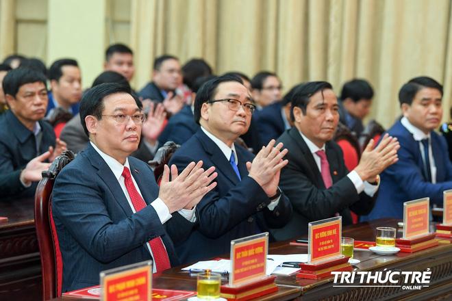 (ẢNH) Toàn cảnh lễ nhận quyết định Bí thư Thành ủy Hà Nội của Phó Thủ tướng Vương Đình Huệ - Ảnh 5.