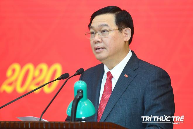 (ẢNH) Toàn cảnh lễ nhận quyết định Bí thư Thành ủy Hà Nội của Phó Thủ tướng Vương Đình Huệ - Ảnh 11.
