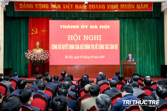 (ẢNH) Toàn cảnh lễ nhận quyết định Bí thư Thành ủy Hà Nội của Phó Thủ tướng Vương Đình Huệ - Ảnh 12.