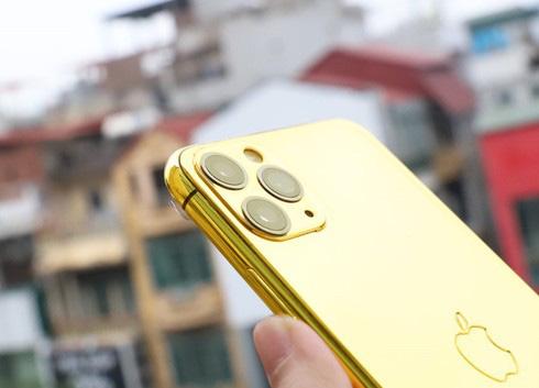 Sốc với điện thoại iPhone Pro Max mạ vàng 24K có giá 50-60 triệu đồng - Ảnh 3.