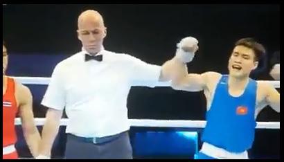 Võ sĩ Việt Nam xuất thần đấm gục đối thủ Thái Lan sau 30 giây để đoạt vé dự Olympic - Ảnh 2.
