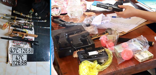 Bắt đối tượng ma túy ôm 6 khẩu súng cố thủ trong nhà - Ảnh 1.