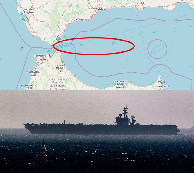 Chiến sự Syria bùng nổ, tàu sân bay Mỹ áp sát: Đổ dầu vào lửa, 3 tàu Nga nghênh chiến? - Ảnh 1.