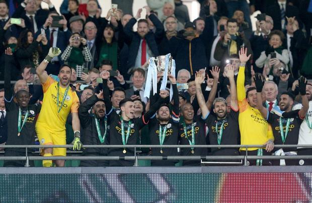 Man City lần thứ ba liên tiếp vô địch Cúp Liên đoàn Anh - Ảnh 7.