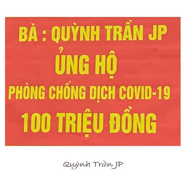 Quỳnh Trần JP đóng góp 100 triệu ủng hộ chống dịch Covid-19 ở Việt Nam, dân mạng rào rào kêu gọi mạnh mẽ nắm tay đón ngày an yên - Ảnh 2.
