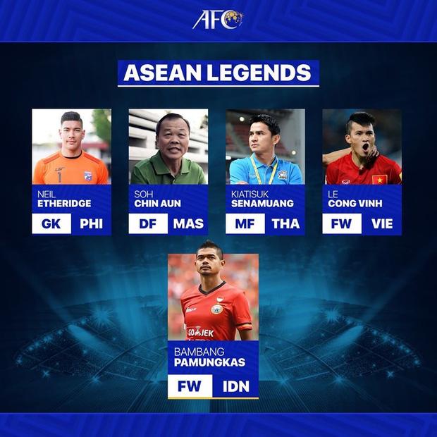 Công Vinh được AFC xướng tên trong đội hình huyền thoại bóng đá Đông Nam Á - Ảnh 1.