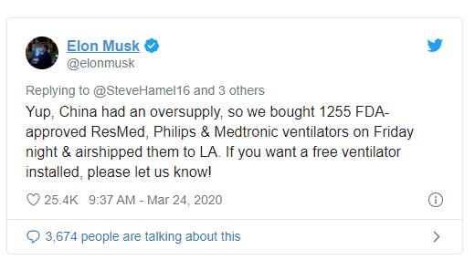 Elon Musk mua vội hơn 1000 máy thở do Trung Quốc sản xuất vì sợ bị dân mạng Mỹ phê phán là chỉ biết chém gió? - Ảnh 1.