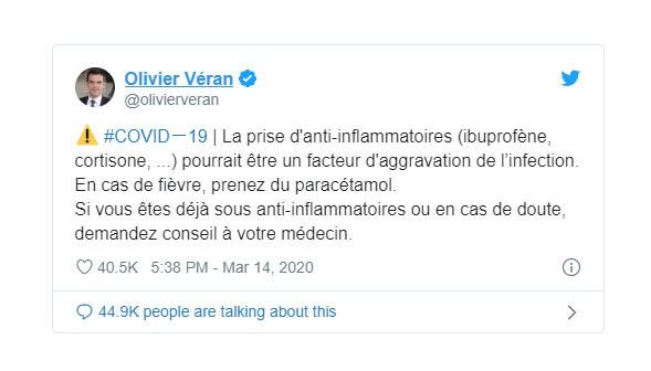Tuyên bố của Bộ trưởng Y tế Pháp mâu thuẫn với WHO: Khi cần hạ sốt, phải dùng thuốc gì? - Ảnh 1.