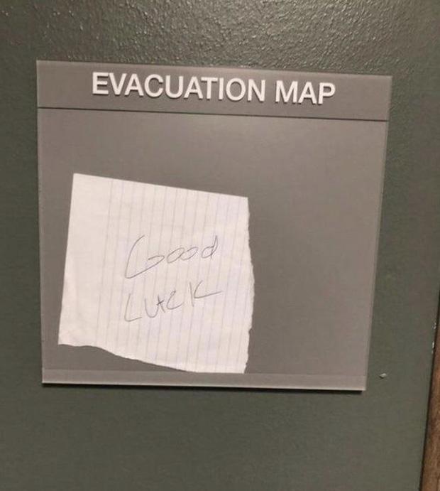 Bản đồ thang sơ tán - Chúc may mắn...