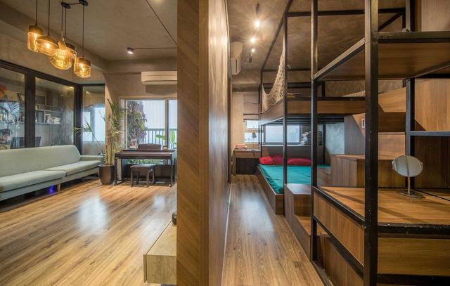 Đi ngược số đông, gia đình trẻ ở Hà Nội cải tạo căn hộ 2 phòng ngủ thành một - Ảnh 7.