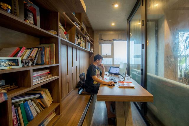 Đi ngược số đông, gia đình trẻ ở Hà Nội cải tạo căn hộ 2 phòng ngủ thành một - Ảnh 8.