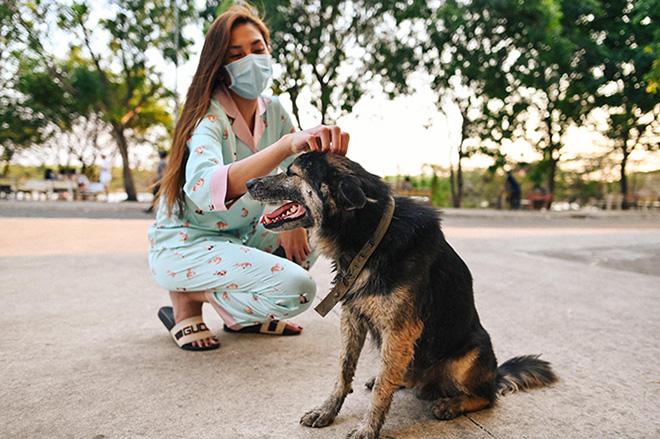 Cuộc sống của siêu mẫu Võ Hoàng Yến tại khu cách ly: Luộc rau bằng ấm siêu tốc, chăm chó  - Ảnh 13.