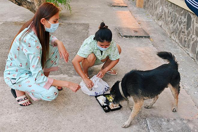 Cuộc sống của siêu mẫu Võ Hoàng Yến tại khu cách ly: Luộc rau bằng ấm siêu tốc, chăm chó  - Ảnh 14.