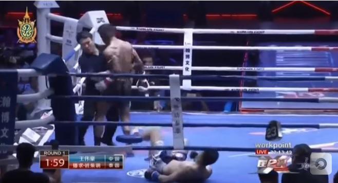 """Sau động thái """"mời"""" đối thủ ra đòn, Buakaw đánh cho võ sĩ Trung Quốc phải chạy quanh đài - Ảnh 2."""