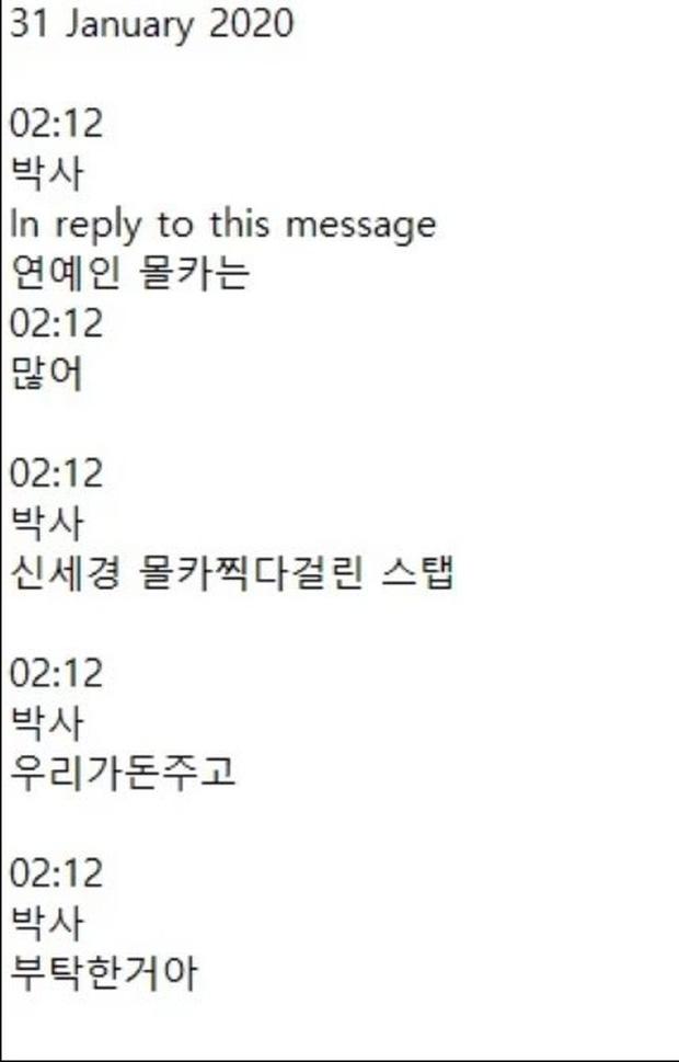 CHẤN ĐỘNG: Shin Se Kyung và Bomi (Apink) là nạn nhân của thủ lĩnh Phòng chat thứ N, lộ tin nhắn giao dịch gây sốc - Ảnh 2.