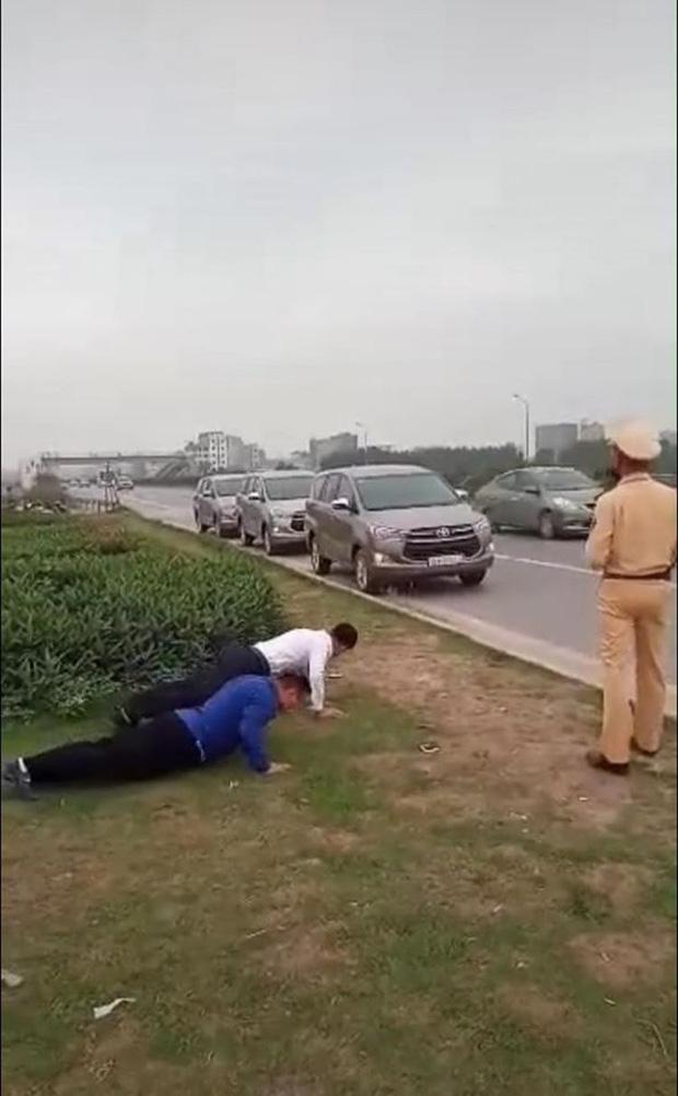 """CSGT Bắc Giang lên tiếng về clip phạt tài xế chống đẩy do không đeo khẩu trang chống COVID-19: """"Tài xế chống đẩy để chứng minh sức khoẻ tốt"""" - Ảnh 3."""
