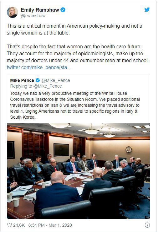 Mỹ: Hình ảnh Phó TT Pence và ban chỉ đạo chống dịch COVID-19 cầu nguyện trước buổi họp khiến dư luận dậy sóng - Ảnh 3.