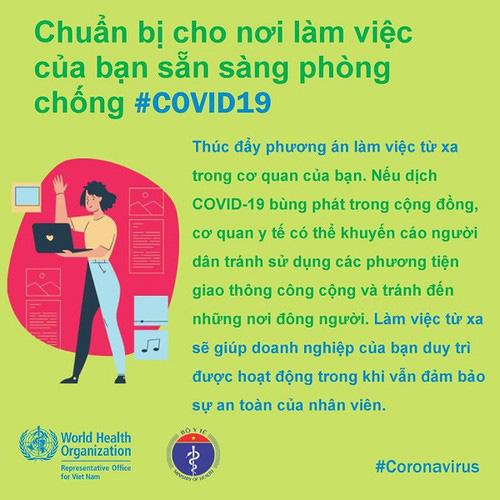 Phòng Covid-19 tại công sở: Khuyến cáo người ốm không đến cơ quan, thúc đẩy chế độ làm việc từ xa… - Ảnh 6.