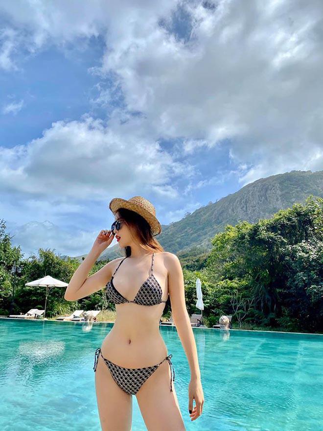 Kỳ Duyên hóp bụng để chụp ảnh mặc bikini đẹp, gợi cảm - Ảnh 10.